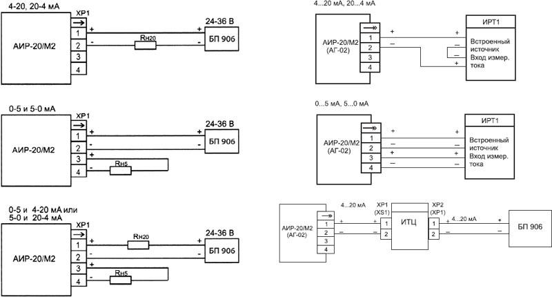 Схема подключений через